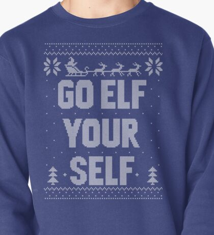 Go Elf Your Self Christmas Knit Pullover