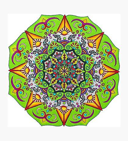 Spring Sunrise Flower Mandala Photographic Print