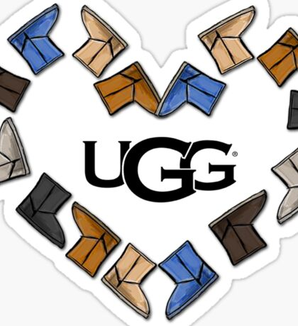 UGG Boot Heart Love  Sticker