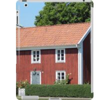 Red Swedish Home iPad Case/Skin