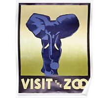 WPA United States Government Work Project Administration Poster 0375 Visit the Zoo Poster