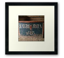 original wood casket from 1823,digital photo,Norwegian,folk museum,Aalesund,Norway, Framed Print