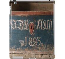 original wood casket from 1823,digital photo,Norwegian,folk museum,Aalesund,Norway, iPad Case/Skin