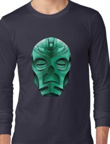 traditional dragon priest mask Long Sleeve T-Shirt