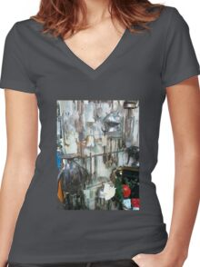 Rustic Women's Fitted V-Neck T-Shirt