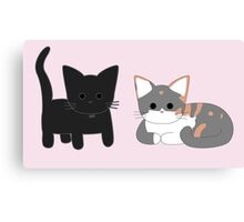 Theo and Clio - Pink Canvas Print