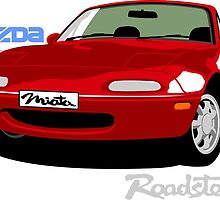 Mazda Miata red by car2oonz
