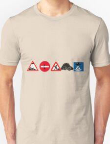 Pictogrammes sur panneaux Unisex T-Shirt