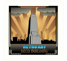 Art deco,NYC,deco building,vintage,retro,elegant,chic, Art Print