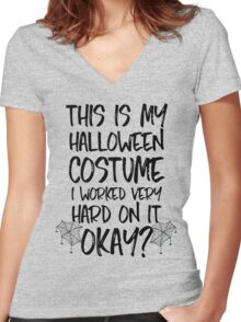 This Is My Halloween Costume Women's Fitted V-Neck T-Shirt