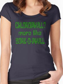 Chlorophyll? More Like Bore-O-Phyll - Billy Madison Quote Women's Fitted Scoop T-Shirt