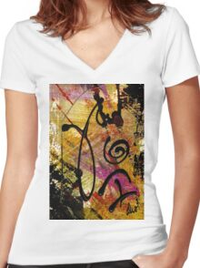 Elation Women's Fitted V-Neck T-Shirt