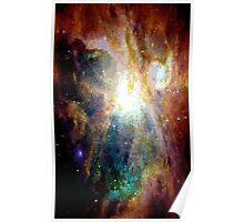Pixel Yellow Nebula Poster