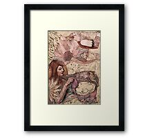 Mon Esprit Voyageur - Feathered Herald of Dreams Framed Print