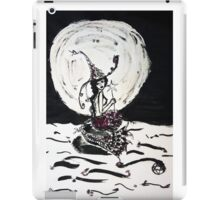 Witchy Mermaid in the Moonlight Ink Art iPad Case/Skin