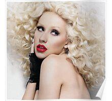 Christina Aguilera - Oil Paint Art (Square) Poster