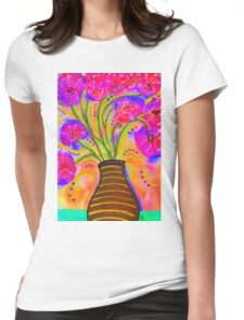 Psychedelic Bouquet Womens Fitted T-Shirt