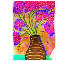 Psychedelic Bouquet Poster