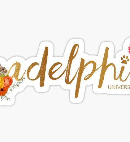 Adelphi Floral Bunny  Sticker