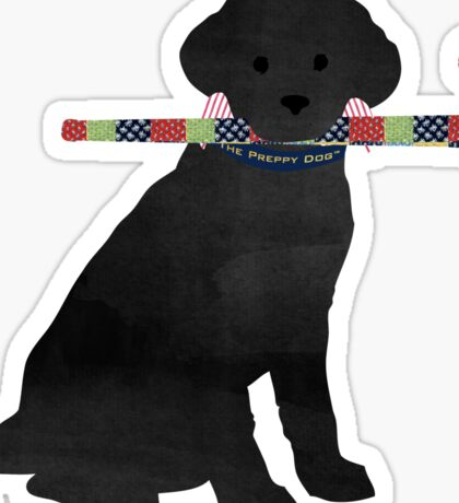 Black Lab Retriever Field Hockey Dog Sticker