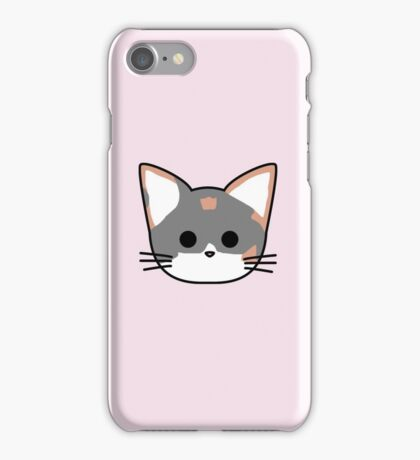 Clio Cat Head - Pink iPhone Case/Skin