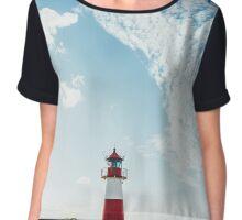 Lighthouse on Sylt (Germany) Chiffon Top
