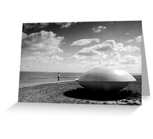 The girl and the UFO Greeting Card