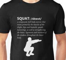Squat Definition - White Unisex T-Shirt