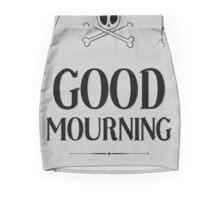 Good Mourning - Halloween Themed Tombstone Mini Skirt