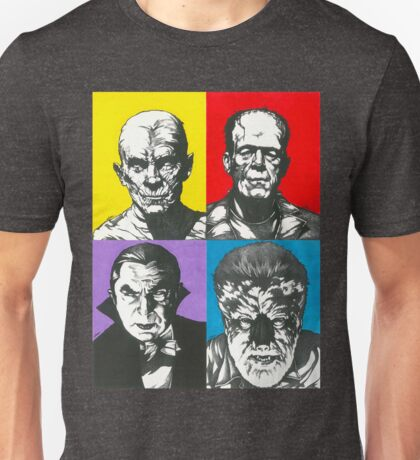 Classic Monsters of the Silver Screen Unisex T-Shirt