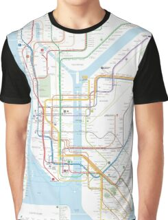 New York City subway map Graphic T-Shirt