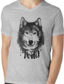 Be Wild. Mens V-Neck T-Shirt