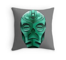 traditional dragon priest mask Throw Pillow
