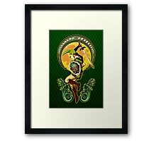 Triforce the mighty Link Framed Print