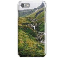River Running Through Lush Green Alpine Landscape in Switzerland iPhone Case/Skin