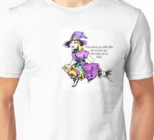 Sorcière en violet Unisex T-Shirt