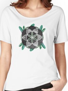 Sacred Geometry: Seed Of Life - Grunge Crystal Women's Relaxed Fit T-Shirt
