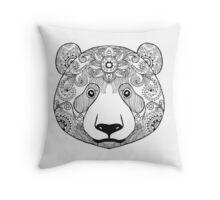 Cute black white panda bear Throw Pillow