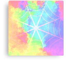 Spiderweb in pastels Canvas Print