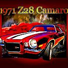 1971 Z28 Camaro Poster 2nd Generation by ChasSinklier