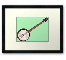 Jazzy ABC - The Banjo Framed Print