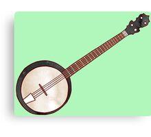 Jazzy ABC - The Banjo Canvas Print