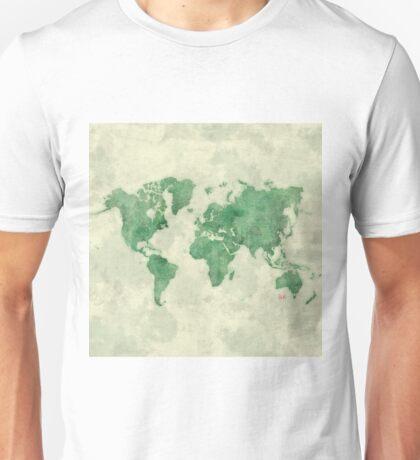 World Map Green Unisex T-Shirt
