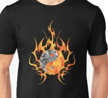 Fire Watercolor yin yang  Unisex T-Shirt