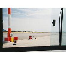 Airplane Trough Open Airport Bus Window Shot on Porta 400 Film Photographic Print