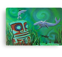 Tiki Shark Treasures Metal Print