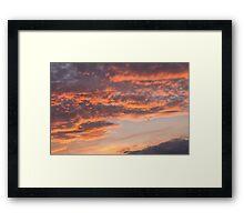 Epic Clouds at Sunset Framed Print
