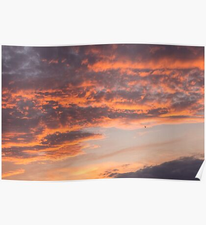 Epic Clouds at Sunset Poster