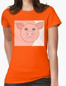 PIG PORTRAIT Womens Fitted T-Shirt