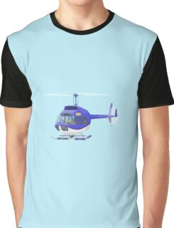 Big City Vehicles - Lion Pilot Flying Helicopter  Graphic T-Shirt